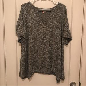 Black and White Keyhole Juicy Couture Top L